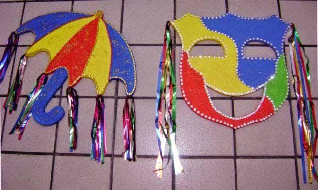 decoração colorida para carnaval