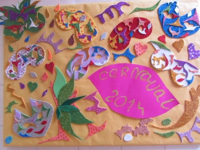 decoração de painel simples com EVA