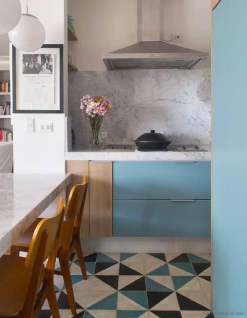 cozinha com mármore thassos