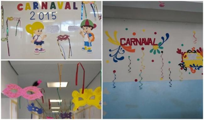 decoração de carnaval para escola feita em EVA