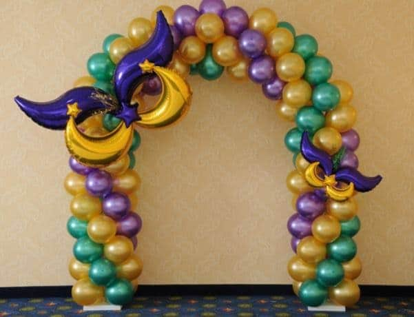 decoração de carnaval com bexigas