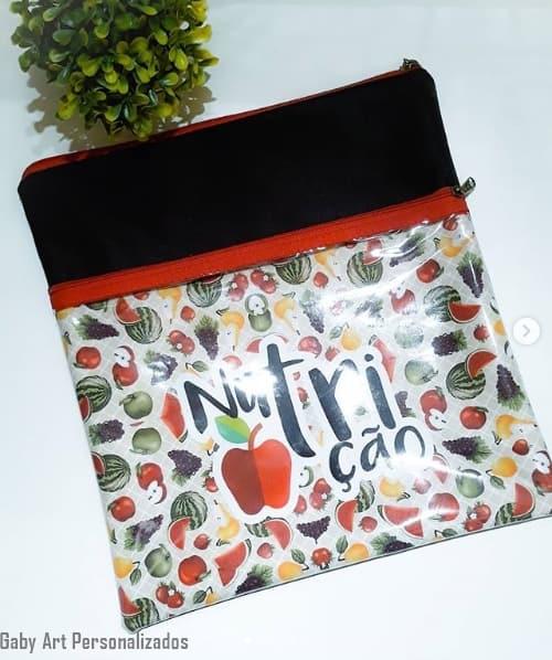 bolsa para jaleco nutrição