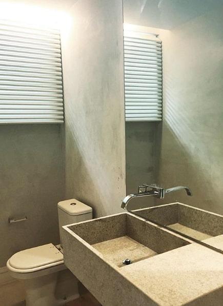 lavabo moderno com pia de granito