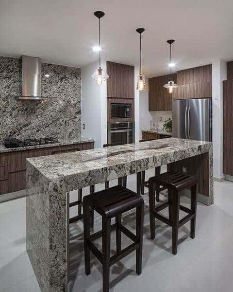 cozinha com mármore