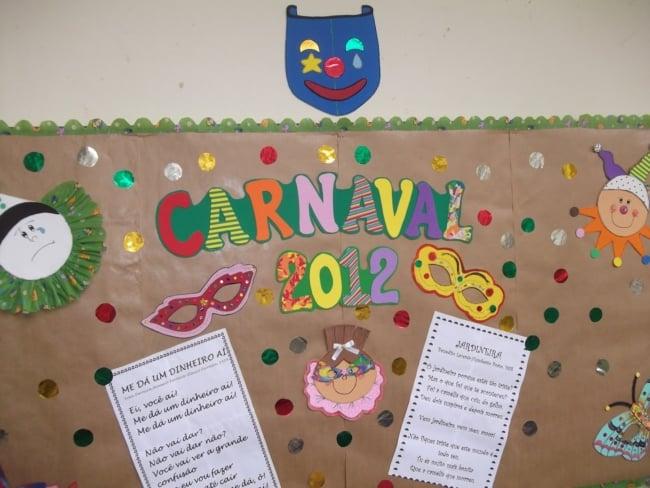 como decorar escola para o carnaval