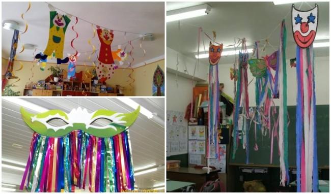 decoração de carnaval para sala de aula de escola