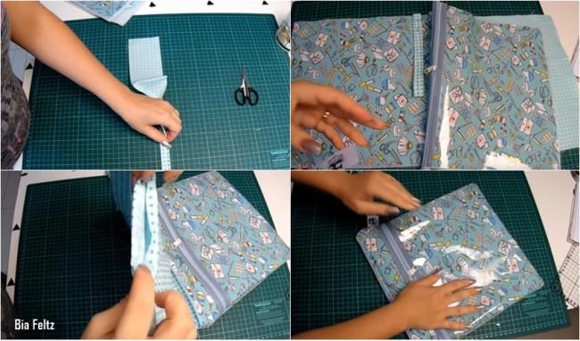 tutorial de como fazer porta jaleco