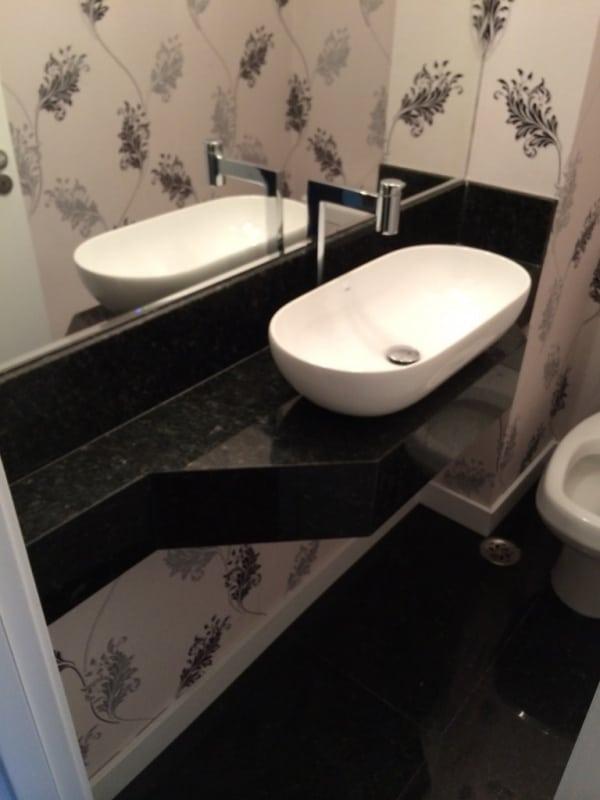 lavabo com bancada de granito