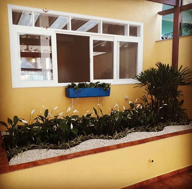 jardim simples externo