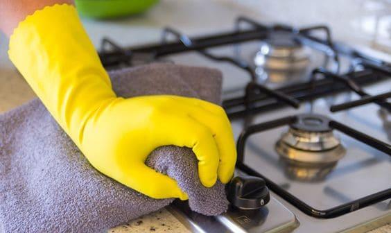 dicas de como limpar o fogão