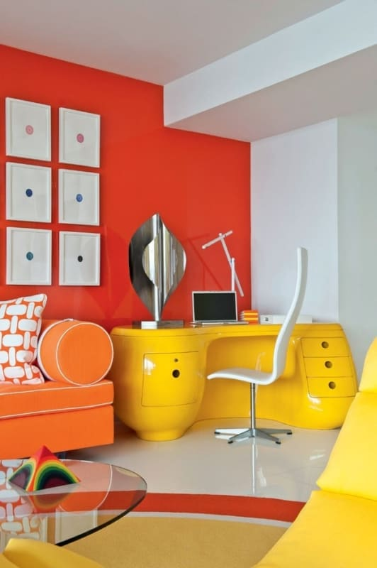 Decoração amarelo e laranja