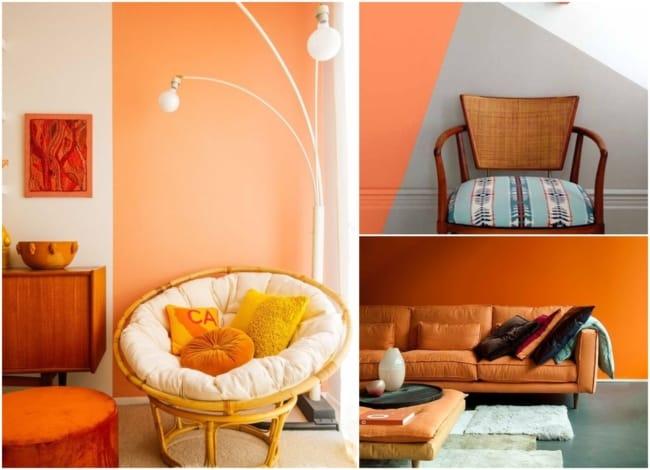 Decoração com a cor laranja 2