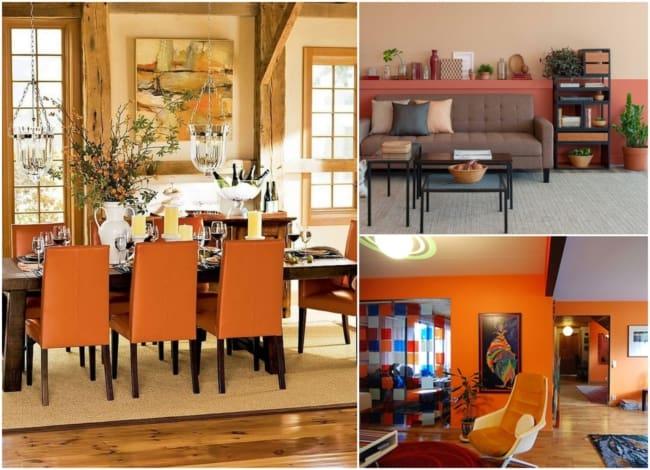 Decoração com a cor laranja 3