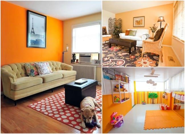 Decoração com a cor laranja 4