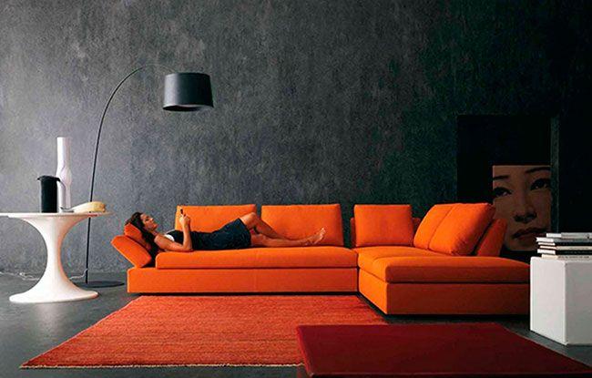 Decoração preta e laranja