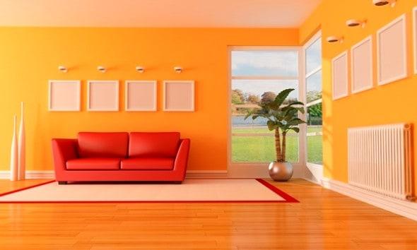 Decorando com cor laranja