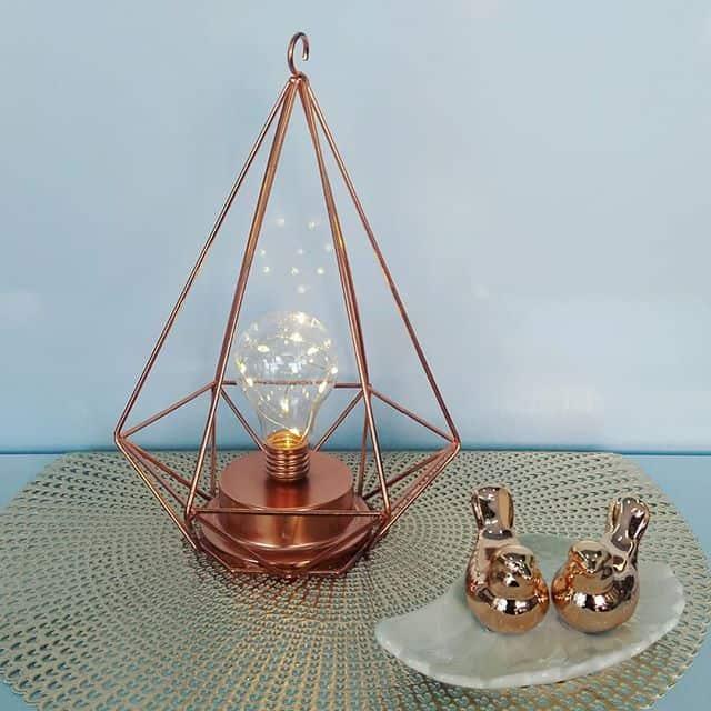 Dica de luminária rose gold para mesa ou criado mudo