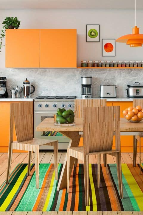 Dica para decorar cozinha laranja