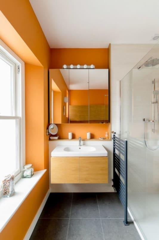 Ideia para ousar na cor do banheiro