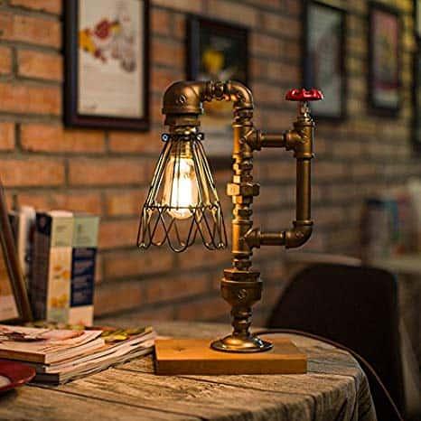 Luminária com estilo retrô