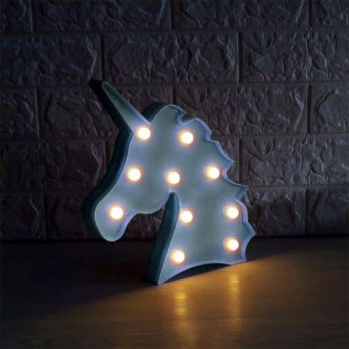 Luminária de unicórnio