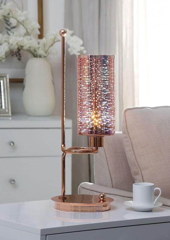 Modelo de luminária de mesa fofa rose gold