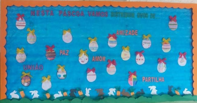 Pascoa decoração para escola