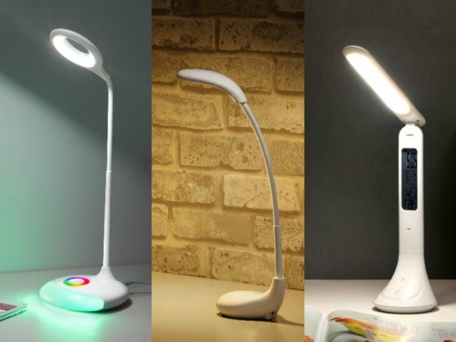 Três luminárias de mesa modernas
