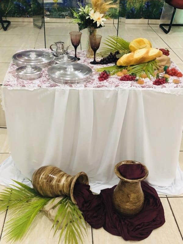 altar decorado para pascoa