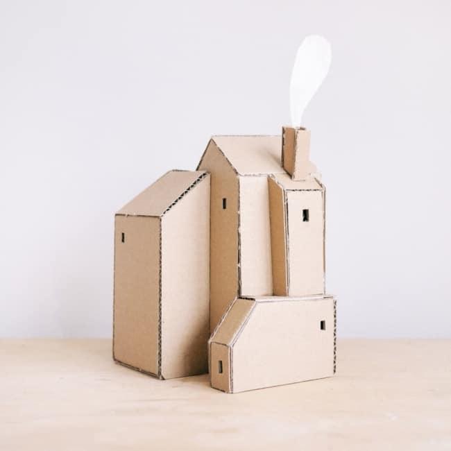 casa de papelão para maquete