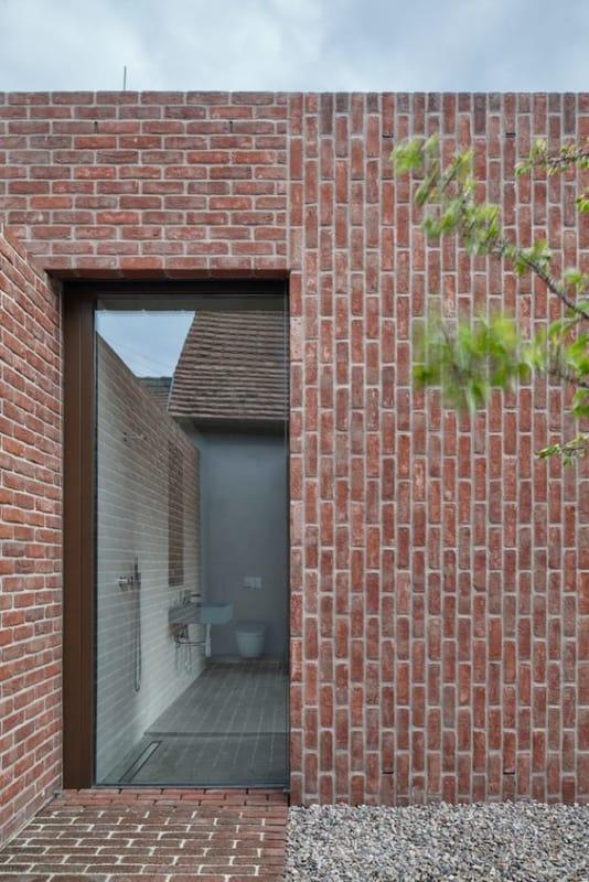 casa moderna com tijolo ecológico