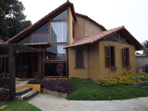 casa moderna de tijolo ecológico