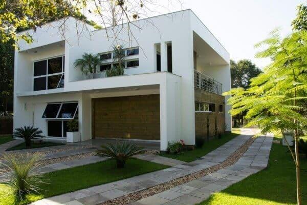 casa simples com platibanda