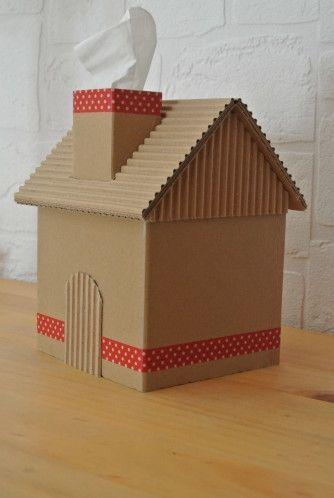 casinha de papelão para maquete