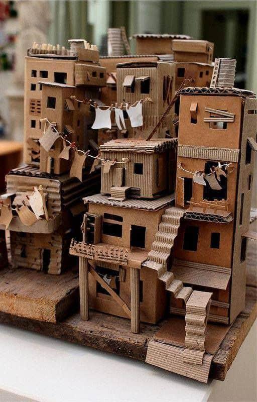 cidade para maquete de papelão