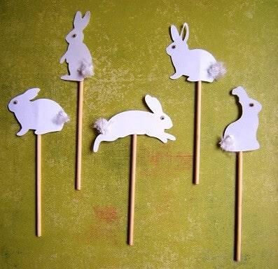 coelhos para decoração de pascoa