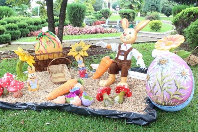 decor de jardim para pascoa