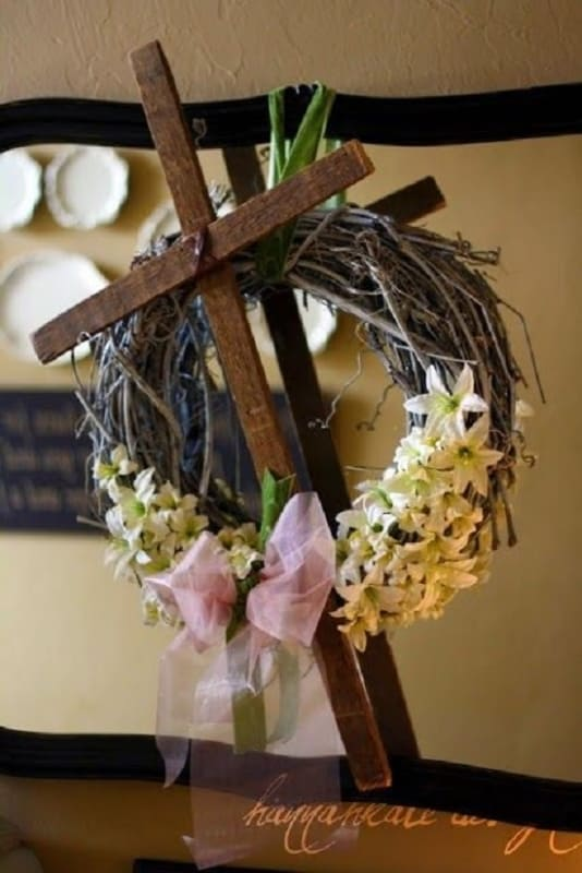 decor de pascoa para igreja