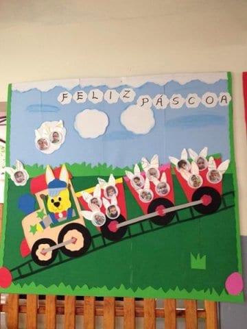 decor de pascoa para sala de aula