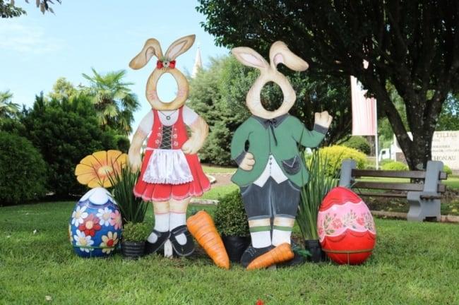decoração de jardim na pascoa