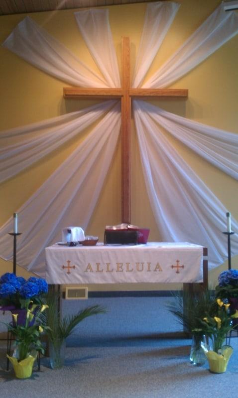 decoração de páscoa para igreja ideias