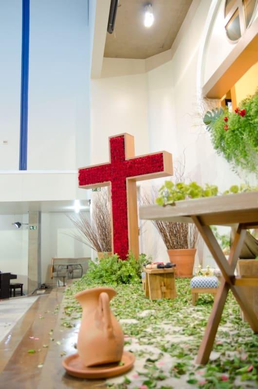 decoração de páscoa para igreja