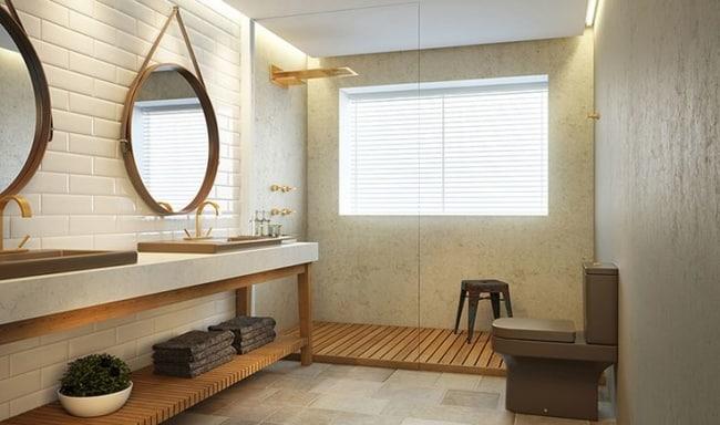 espelho adnet em banheiro grande