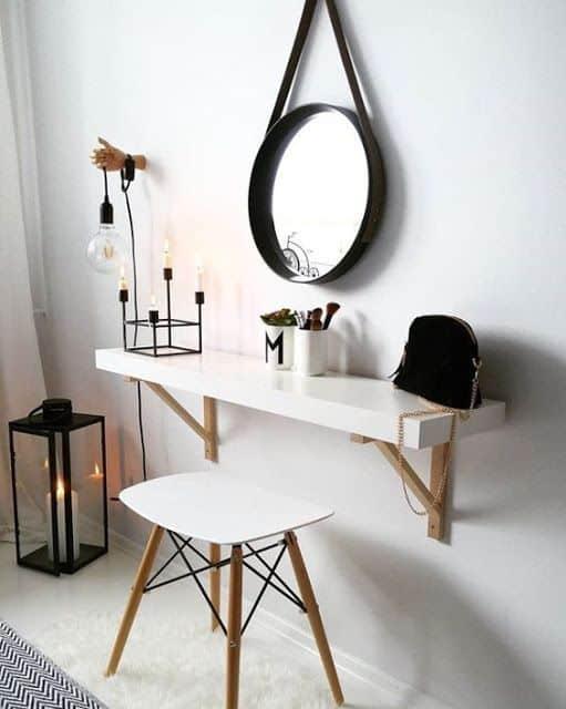 espelho adnet no quarto pequeno