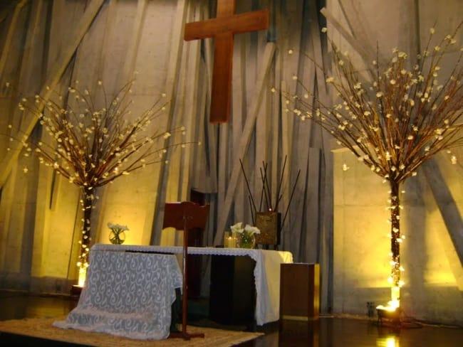 igreja decorada para pascoa