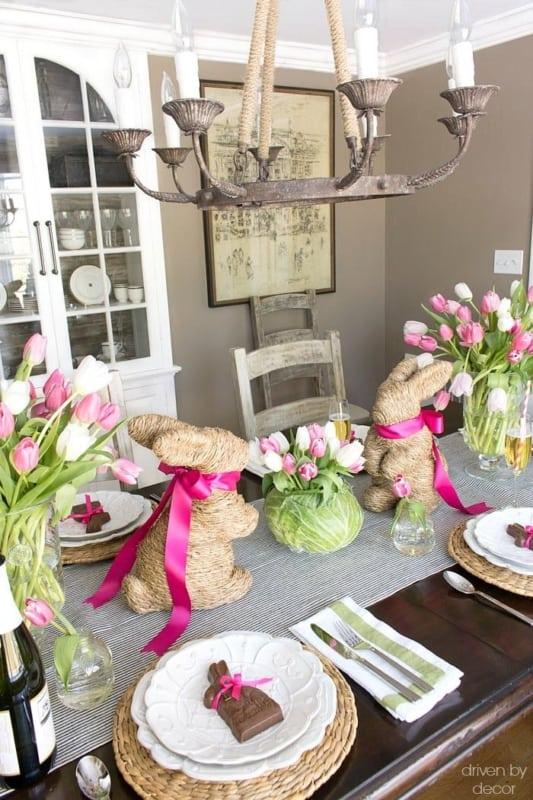 linda mesa de pascoa