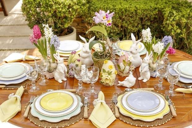 mesa de jantar para pascoa