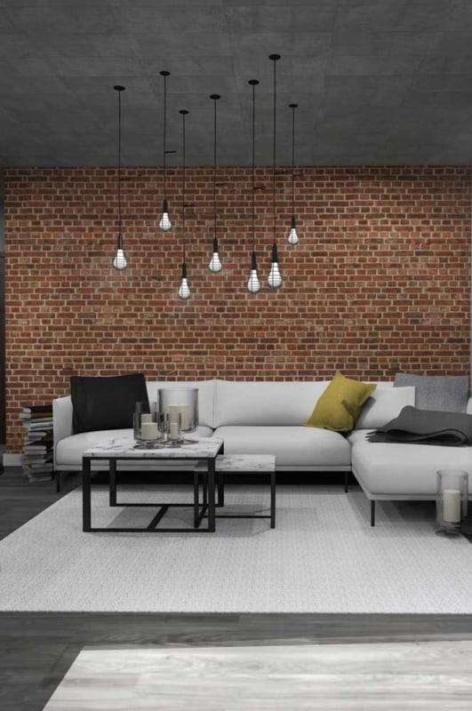 sala com tijolo ecológico