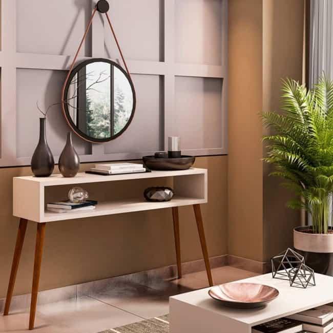 sala moderna com espelho adnet