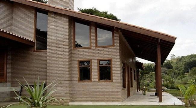 tijolo ecológico em casa grande